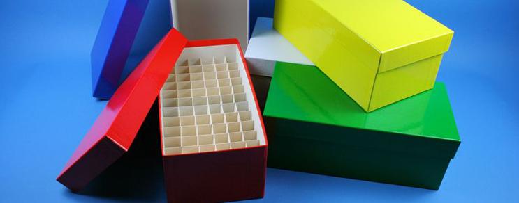 Alpha Kryo Pappe Boxen 136x268x100 mm hoch +Raster