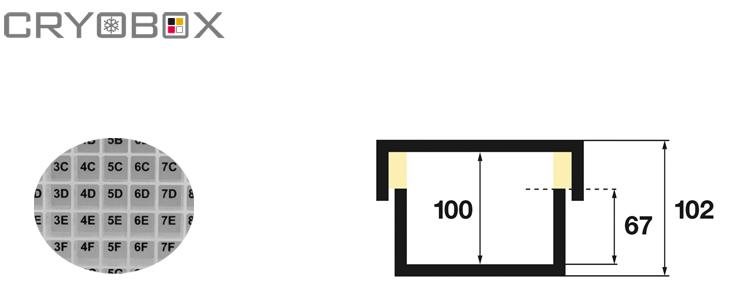 EPPI Kunststoff Kryoboxen 130x130x102 mm hoch