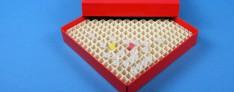 Alpha Kryo Pappe Boxen 136x136x25 mm hoch +Raster