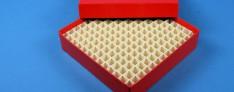 Alpha Kryo Pappe Boxen 136x136x32 mm hoch +Raster