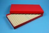 ALPHA 25 lang2 Kryobox (Karton standard) 16x32 Fächer, rot, Höhe 25 mm