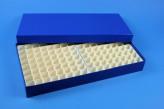 ALPHA 32 lang2 Kryobox (Karton standard) 13x26 Fächer, blau, Höhe 32 mm