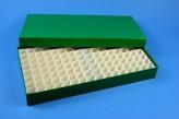 ALPHA 32 lang2 Kryobox (Karton standard) 13x26 Fächer, grün, Höhe 32 mm