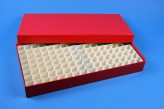 ALPHA 32 lang2 Kryobox (Karton standard) 13x26 Fächer, orange, Höhe 32 mm