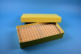 ALPHA 50 lang2 Kryobox (Karton standard) 10x20 Fächer, gelb, Höhe 50 mm