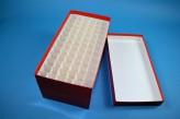 CellBox Maxi lang Kryobox (Karton standard) 6x12 Fächer, rot, Höhe 128 mm