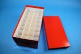 CellBox Maxi lang Kryobox (Karton standard) 4x8 Fächer, rot, Höhe 128 mm
