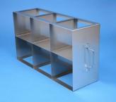 CellBox Maxi  Schrankgestell 3x2 Fächer für 6 Kryoboxen bis 148x148x128 mm Klappgriff, offene Bauform