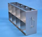 CellBox Maxi  Schrankgestell 4x2 Fächer für 8 Kryoboxen bis 148x148x128 mm Klappgriff, offene Bauform