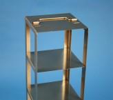 CellBox Maxi Truhengestell für 2 Kryoboxen bis 148x148x128 mm Klappgriff, Edelstahl