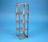 CellBox Maxi Truhengestell für 4 Kryoboxen bis 148x148x128 mm Klappgriff, Edelstahl